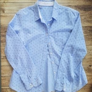"Women's ""bee"" button down top size L"